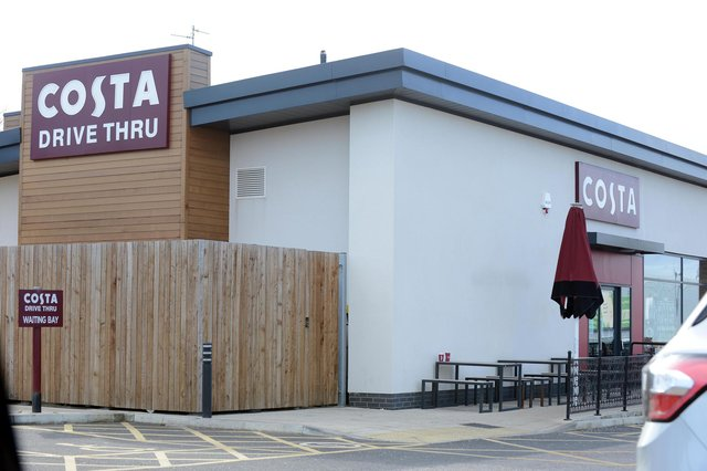 The Pallion Retail Park Costa Coffee outlet