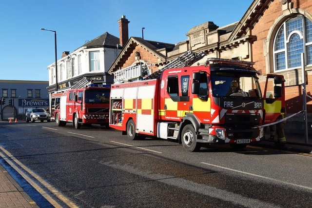 Four fire crews have attended the blaze