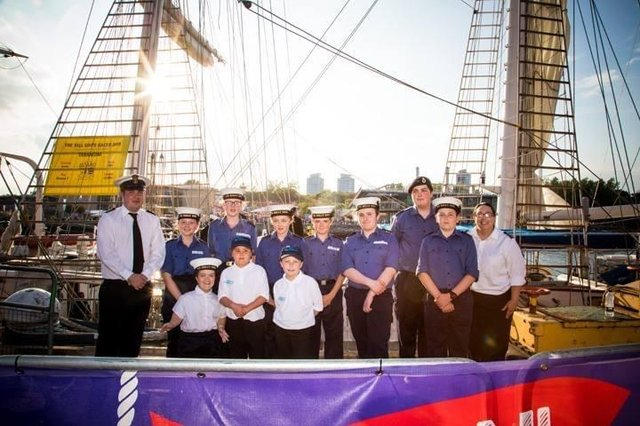 Cadets at the Sunderland Tall Ships Races
