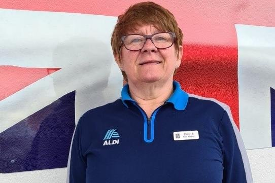 Angela James is celebrating 20 years of working for Aldi.