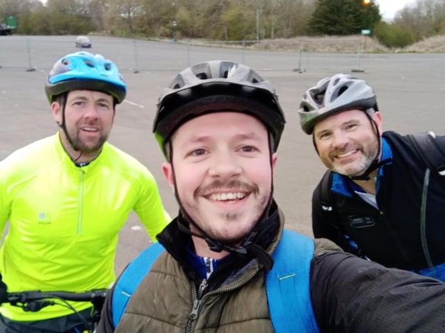Left to right: Steven Whitelaw, Chris Scougal, Harry Kerr