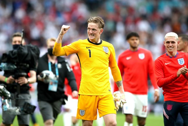 Jordan Pickford has thanked fans for their support following England's Euro 2020 final defeat. Photo: Nick Potts/PA.