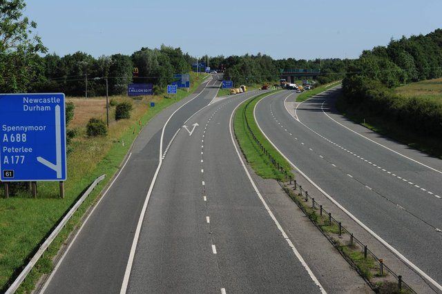 Police have confirmed that three people have died in a multi-vehicle crash on the A1(M) in County Durham. Picture: Nina Large/North News.
