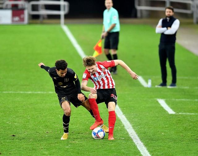 Denver Hume in action for Sunderland.