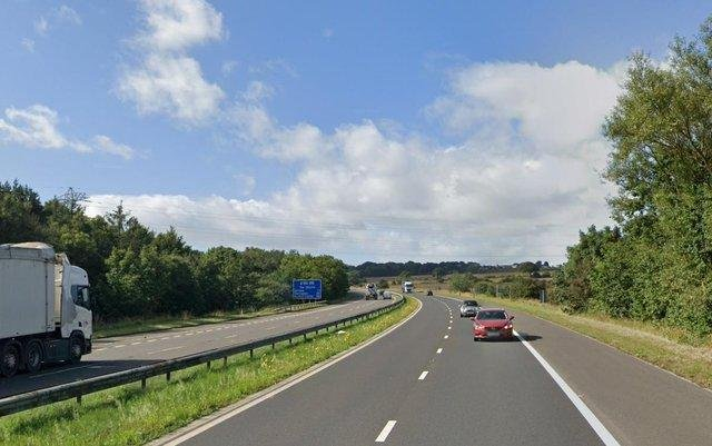 The collision happened on the A194 in Washington. Image copyright Google Maps.