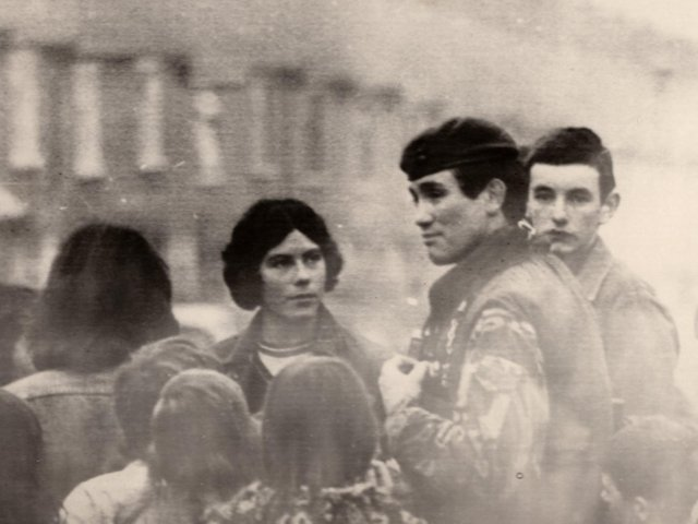 Sunderland soldier Captain Robert Nairac, second right, on patrol in Ulster during the 1970s.