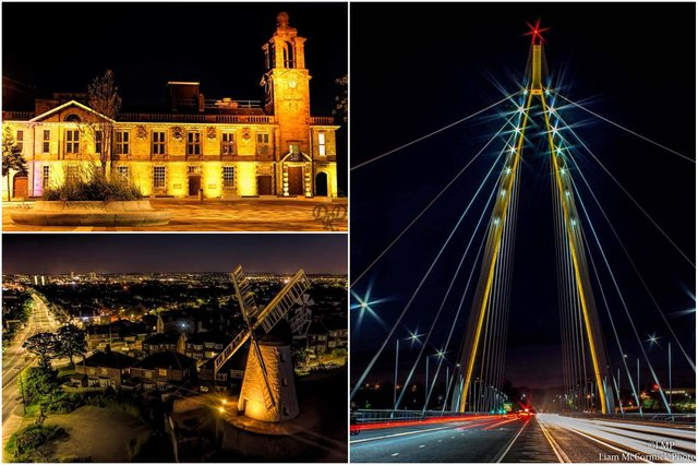 Sunderland landmarks will be lit yellow. Pictures: Mick Naisbitt and Liam McCormick.