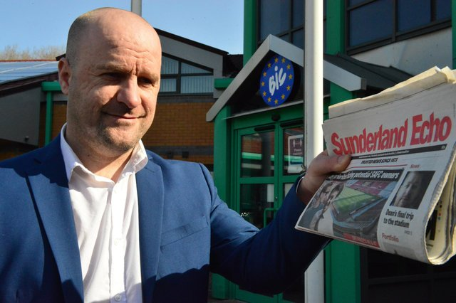 Sunderland Echo guest editor Ashley Jones outside the Echo's offices. Picture by FRANK REID