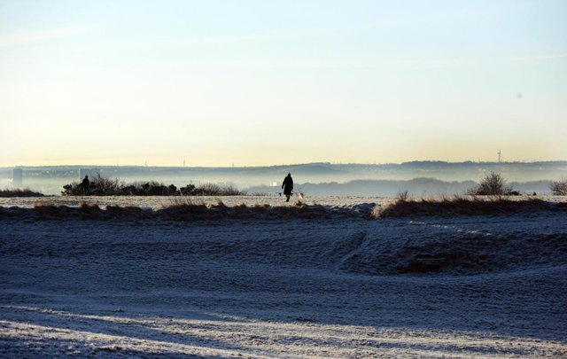 The Met Office forecast predicts sleet and frost ahead.