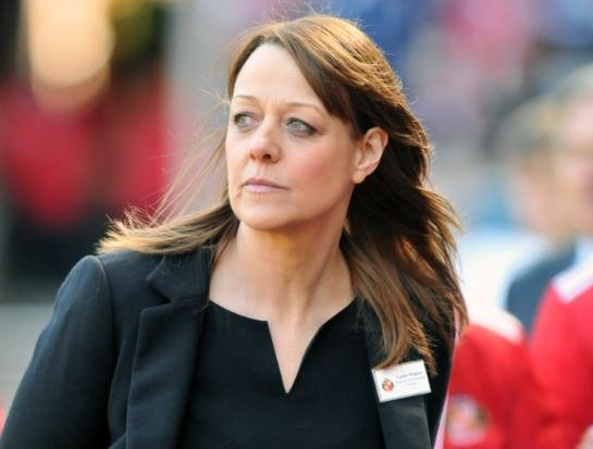 Louise Wanless, who spent 16 years with Sunderland AFC's media and communications department, pictured in 2013 as the club played Manchester United in the Barclays Premier League at the Stadium of Light.