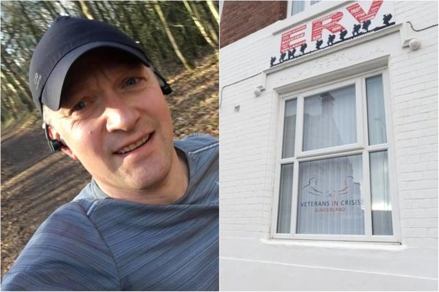 Steven Hudak is running then Coniston trail marathon for Veterans in Crisis Sunderland