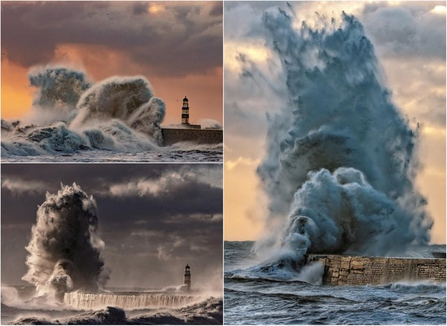Phil Wright shared these dramatic pictures, taken at Seaham.