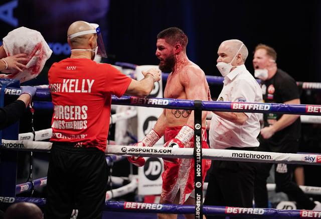 Josh Kelly bleeding after his loss to David Avanesyan.