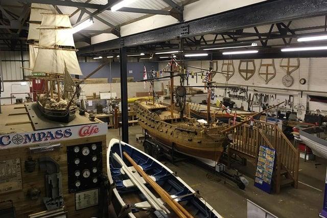 Inside the Sunderland Maritime Heritage base.