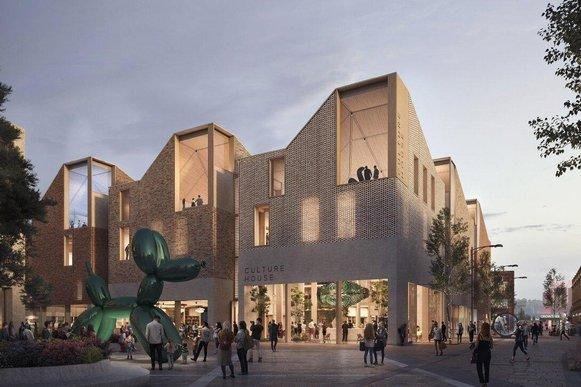 An artist's impression of how the new Culture House will look