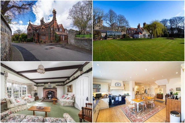 The stunning Grade II-listed Red Cottage on Church Lane in Whitburn is up for sale.
