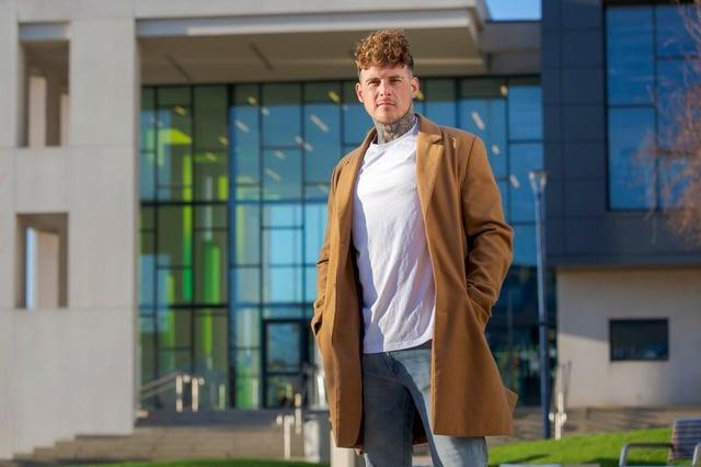 Entrepreneur Chris Hunter outside Sunderland University Picture: DAVID WOOD.