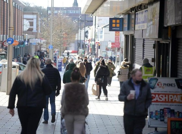 Shoppers back in the streets of Sunderland