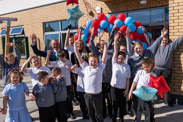 The sun shoneas staff at Harry Watts Academy, part of Prosper Learning Trust, welcomed pupils to their new school building.