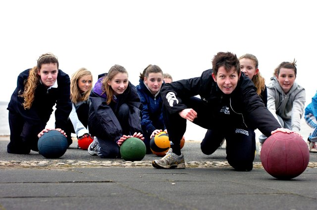 Members of the Monkwearmouth school netball teams being put through their paces by Kelly Kirk from the Outdoor Fitness Company. Were you in the picture nine years ago?