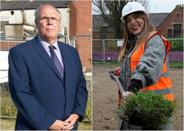 Rival Sunderland councillors Michael Dixon and Rebecca Dixon have clashed over housing issues in the city.