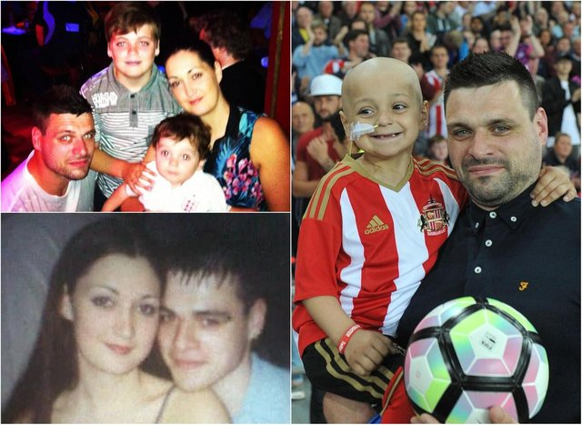 Gemma and Carl Lowery, pictured with their sons Bradley and Kieran. Pictures: Bradley Lowery Foundation