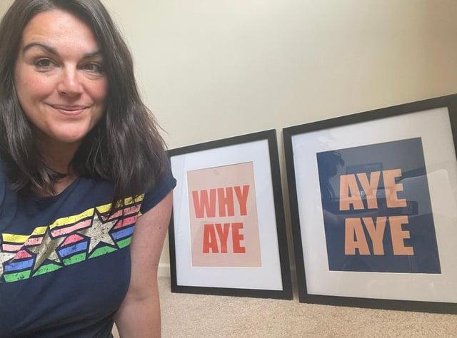 Kelly Fairs has showcased Mackem phrases in colourful prints.