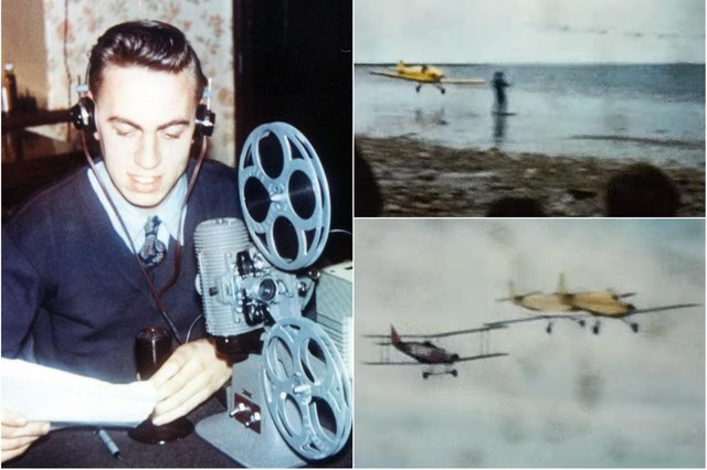 Bob Wingate and stills from the film footage he took in 1973.