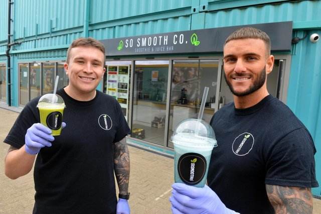 The Stack Seaburn new smoothie bar, So Smooth Co. Owners from left Callum Christie and Glen Watson.