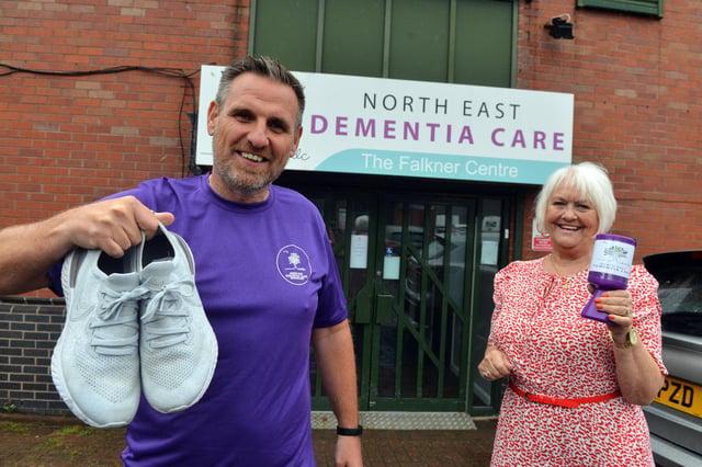 Grant Lawson with North East Dementia Care founder Sandra Falkner.