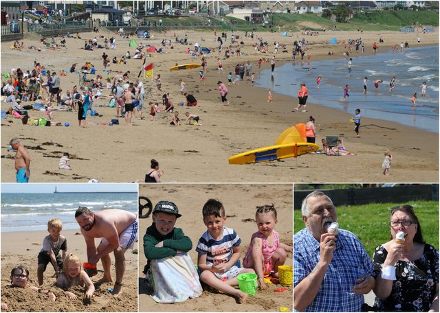 Sunseekers enjoyed the weather during their visit to Seaburn.