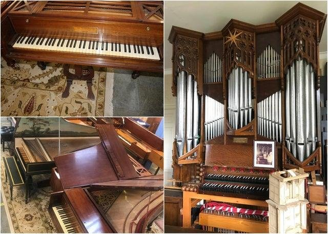 Pianos and a this huge church organ went under the hammer in Boldon. Pictures courtesy of Boldon Auction Galleries.
