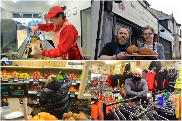 Independent traders in St Luke's Terrace, Pallion