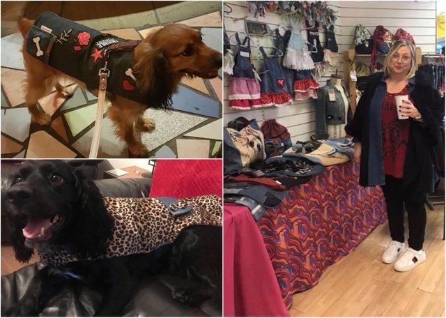 Sally Jewers is opening Made By Sally J in Jacky Whites Market on October 15 and it will offer products made from reclaimed textiles, predominantly denim, with one recent addition to the business is 'a line of unusual dog coats and bandanas'.