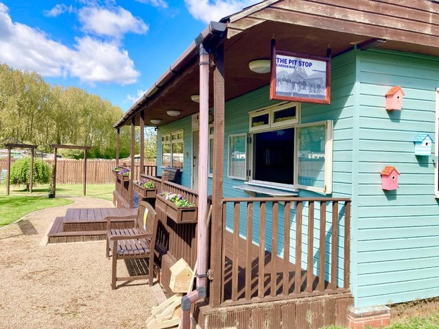 The new Pit Stop Garden Bar, at Lambton House Care Home, was formerly used as an accounts office and a furniture store.