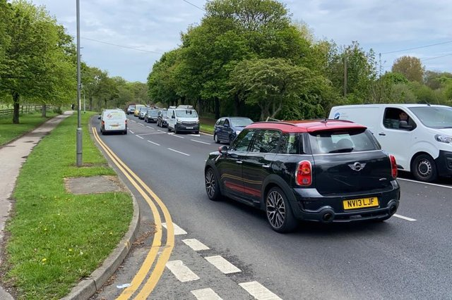 Traffic was left queuing on Catcote Road in Hartlepool as motorists were diverted off the A19 due to the collision.