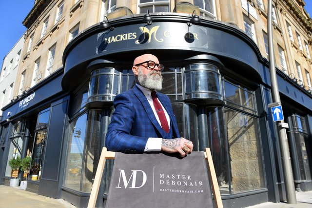 CEO of Master Debonair Simon Whitaker has taken over a unit in Mackie's Corner for his new store.