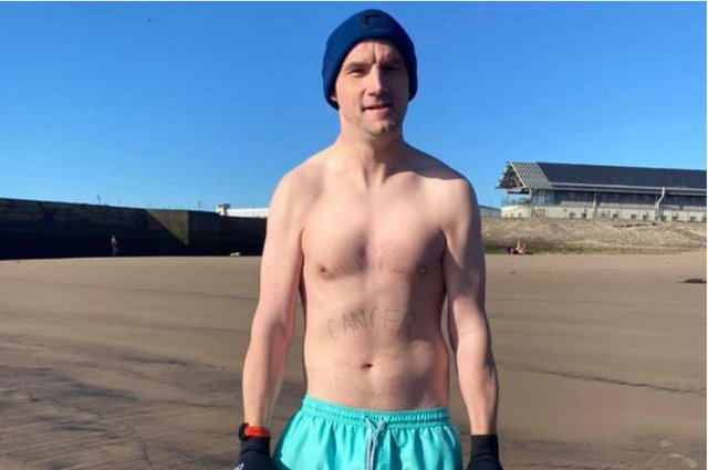 Andrew More sea swims at Seaham beach to improve mental health after he was diagnosed with cancer four years ago