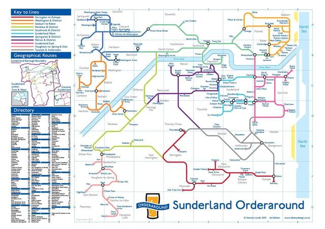 The new Sunderland pub map
