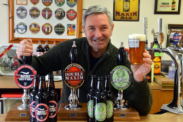 Maxim Brewery managing director Mark Anderson has launched two new beers, Maverick and Medusa, after they previously proved popular on cask.