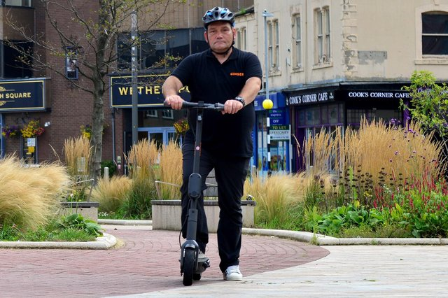 An e-scooter getting a trip out in Hartlepool. A similar scheme is due to come to Sunderland.