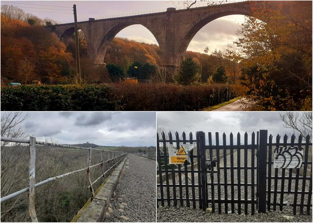 Officials have warned that it is illegal to access the Victoria Viaduct as the 120ft-high structure is 'extremely dangerous and can have life changing or even fatal consequences'.