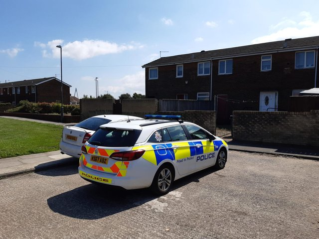 Northumbria Police remained on the scene as inquiries got under way.