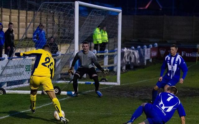 Northern League club Whitley Bay faced Ukrainian Super League side Metalist Kharkiv. Picture by Julian Tyley.