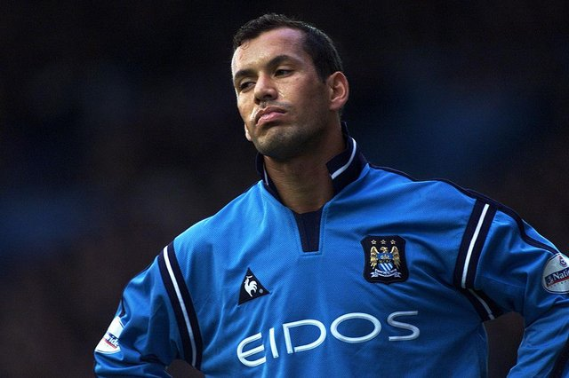 Ali Benarbia of Manchester City.
