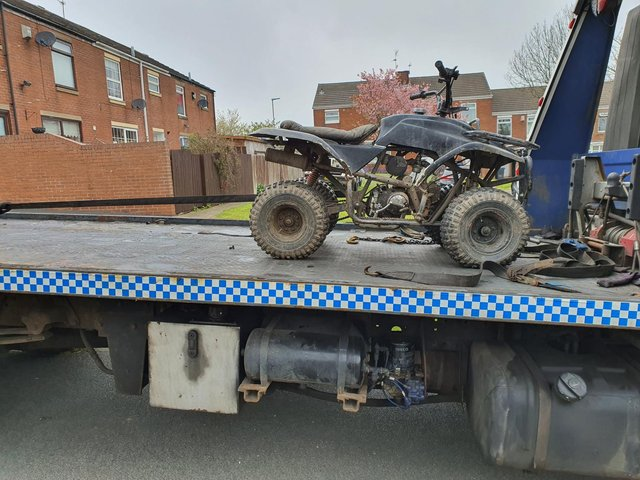Police seized a quad bike as part of a crackdown on anti-social behaviour in Peterlee.