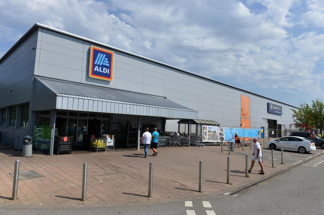 Staff at the Galleries Aldi store called police
