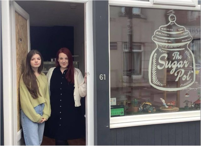 Jennifer Crawford and her mam Gemma Liddle who owns The Sugar Pot.
