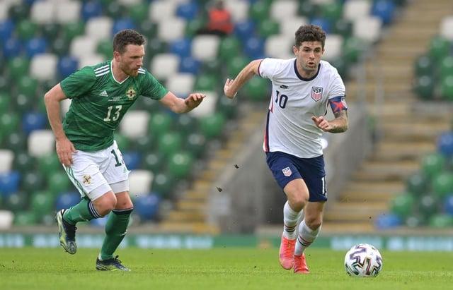 Northern Ireland midfielder Corry Evans
