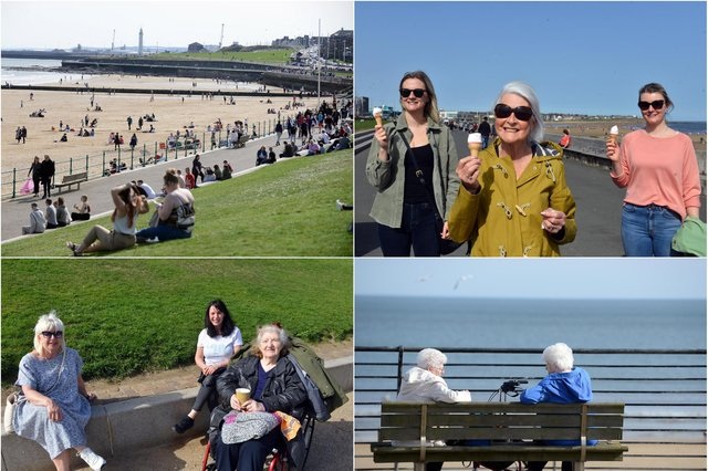 Enjoying the sunshine at Sunderland's coast as lockdown restrictions are eased.